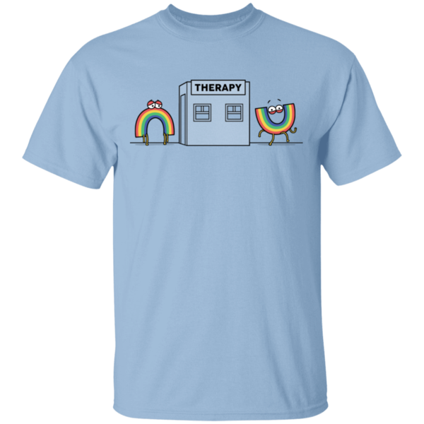 Pop-Up Tee: Rainbow Therapy
