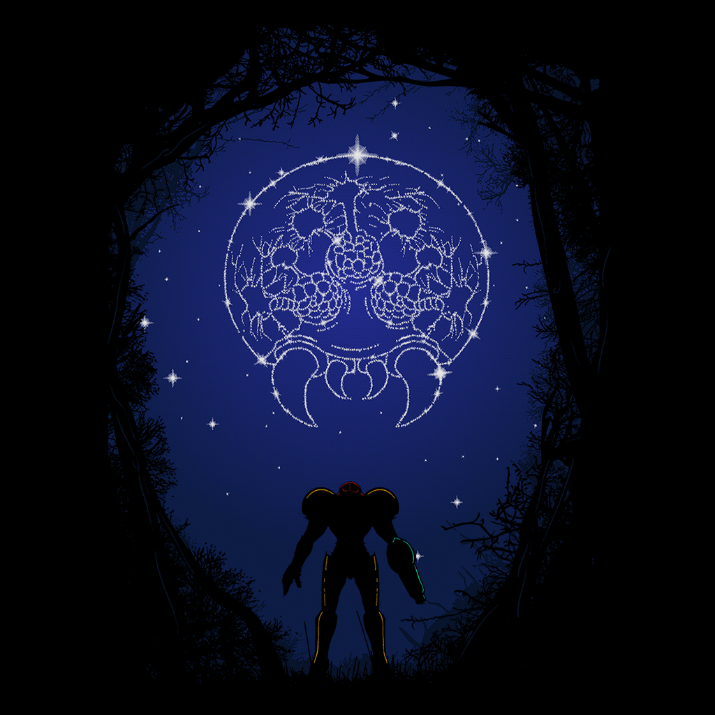 Pop-Up Tee: Constellation Metroid