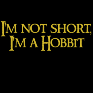Qwertee: I'm not short, I'm a Hobbit