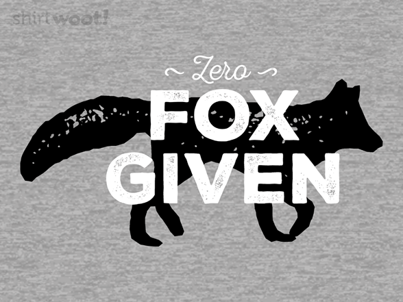 Woot!: Absolutely Zero Fox Given