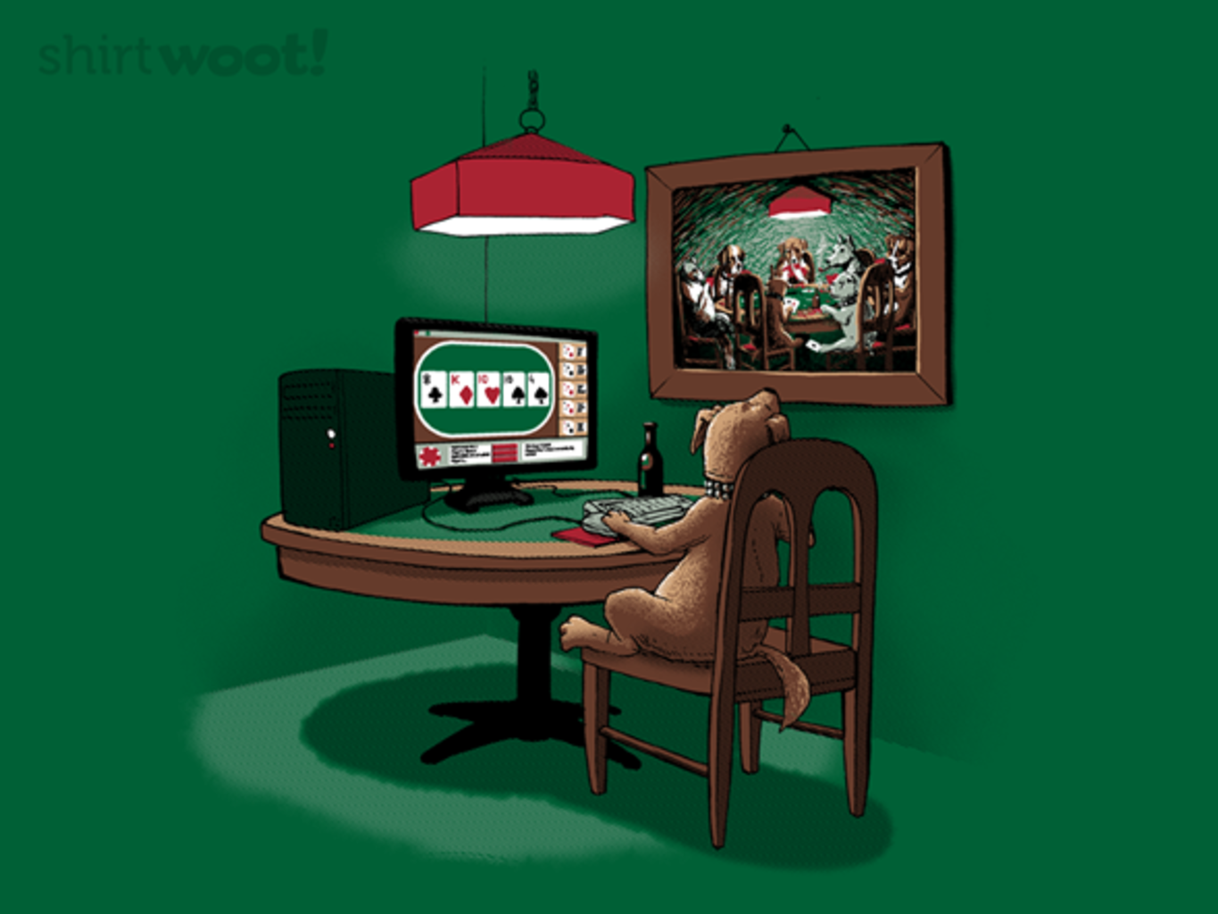 Woot!: Dog Playing Poker Online