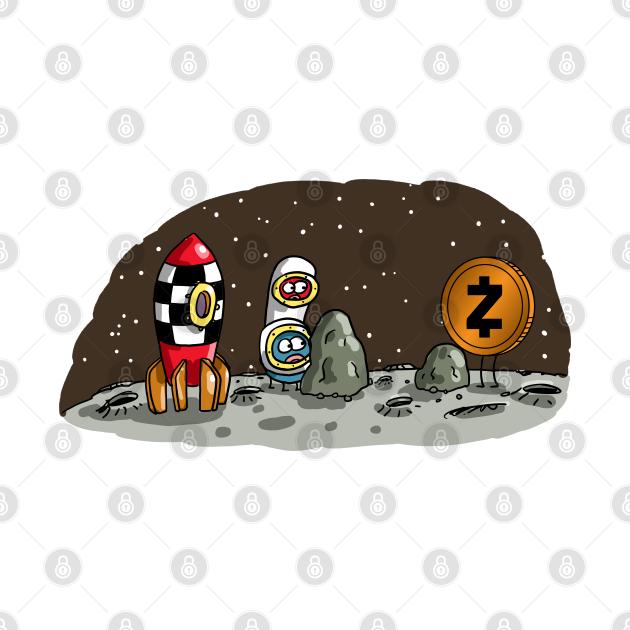 TeePublic: Zcash coin on the moon