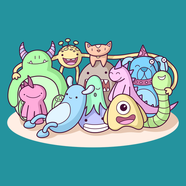 NeatoShop: Monster Family Photo