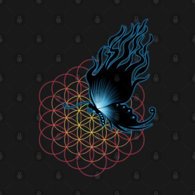 TeePublic: black fire butterfly