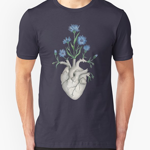 RedBubble: Floral Heart: Human Anatomy Cornflower Valentines Day Gift