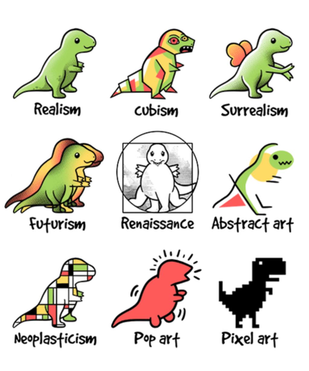 Qwertee: T-rex art