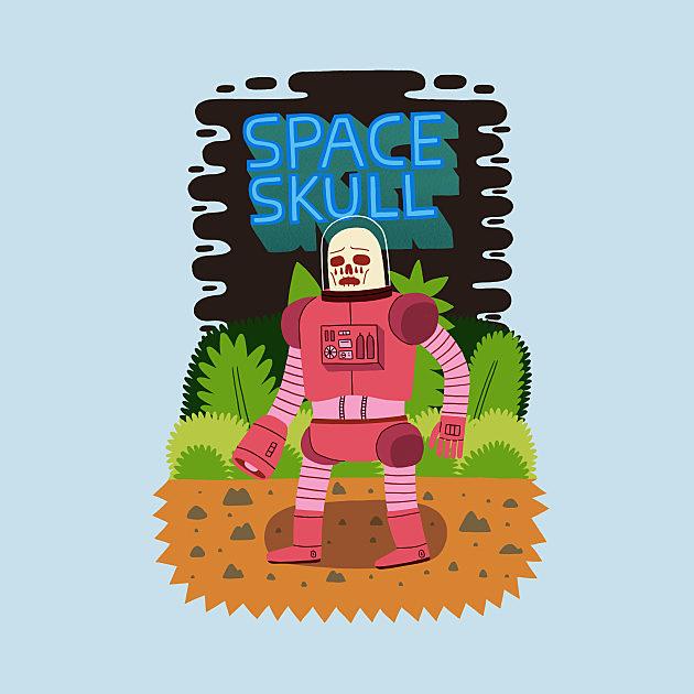 TeePublic: SPACE SKULL