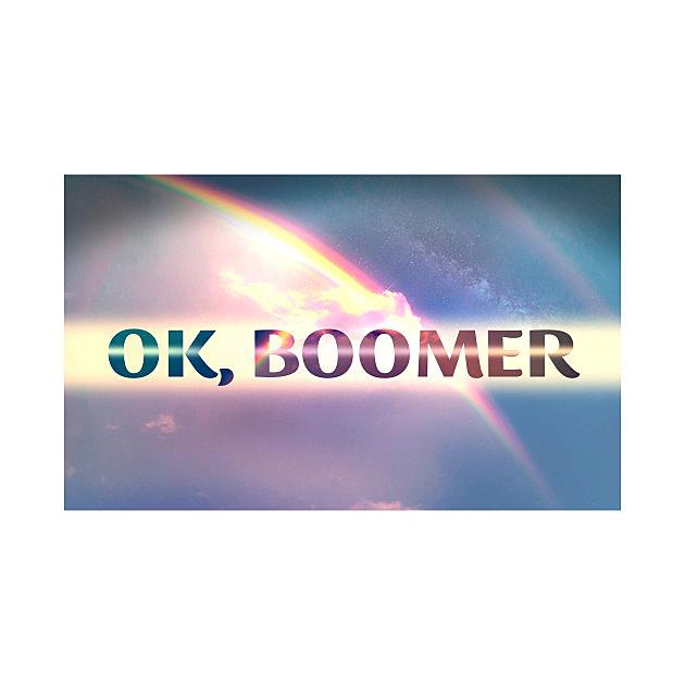 TeePublic: OK Boomer meme rainbow shirt