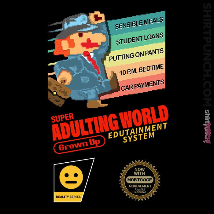 ShirtPunch: Super Adulting World