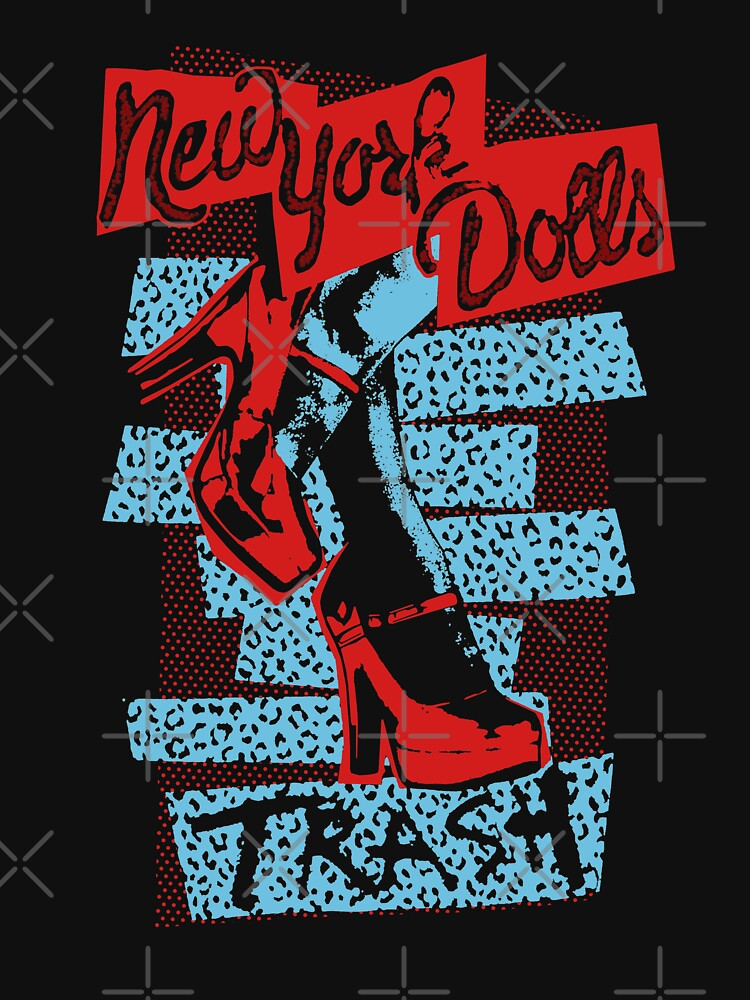 RedBubble: New York Dolls Trash Boots Shirt, Sticker, Mask