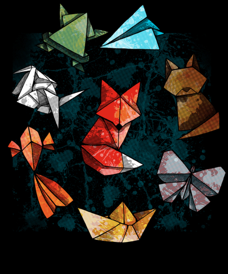 Qwertee: Rainbow Origami