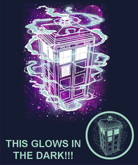 Qwertee: It's bigger on the inside. Glow!