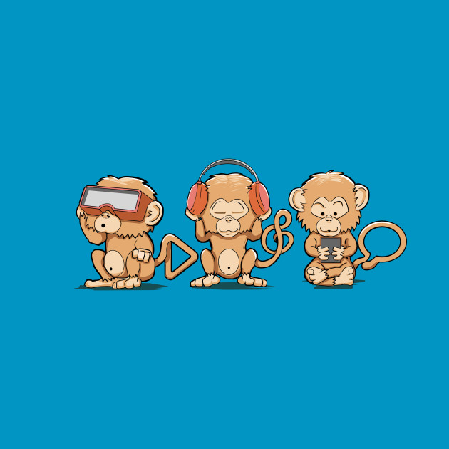 TeePublic: Three Modern Monkeys