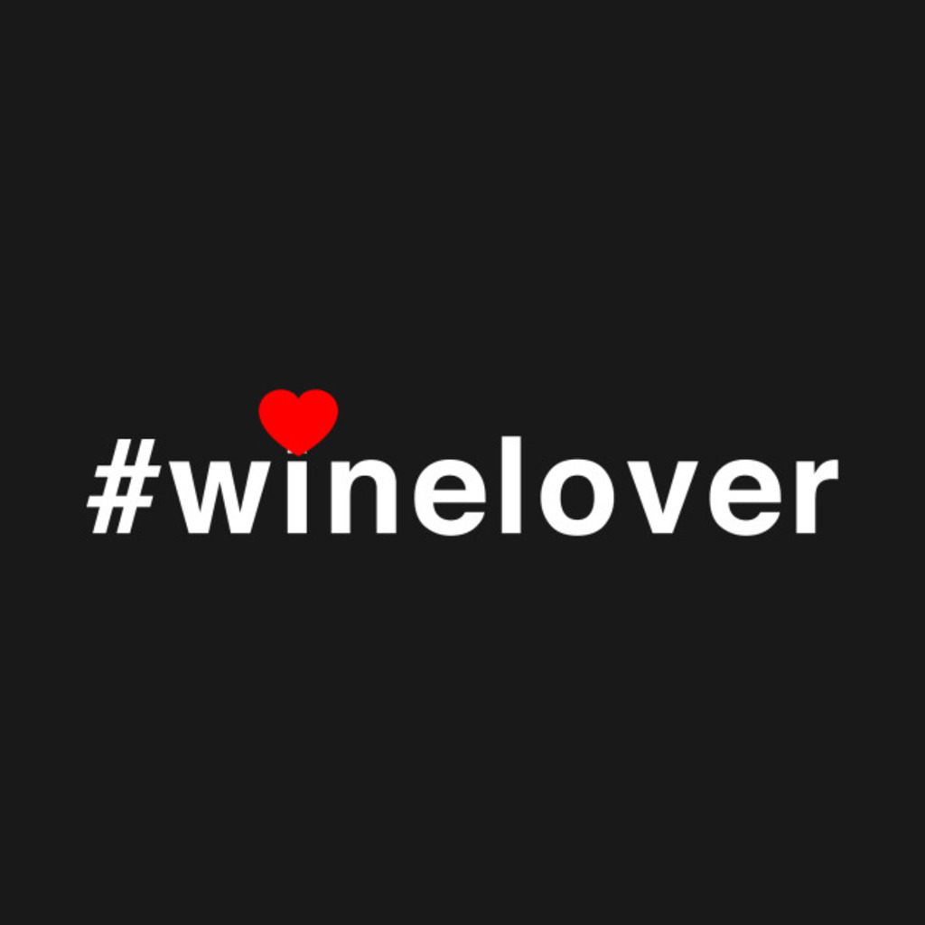 TeePublic: #winelover heart T-Shirt
