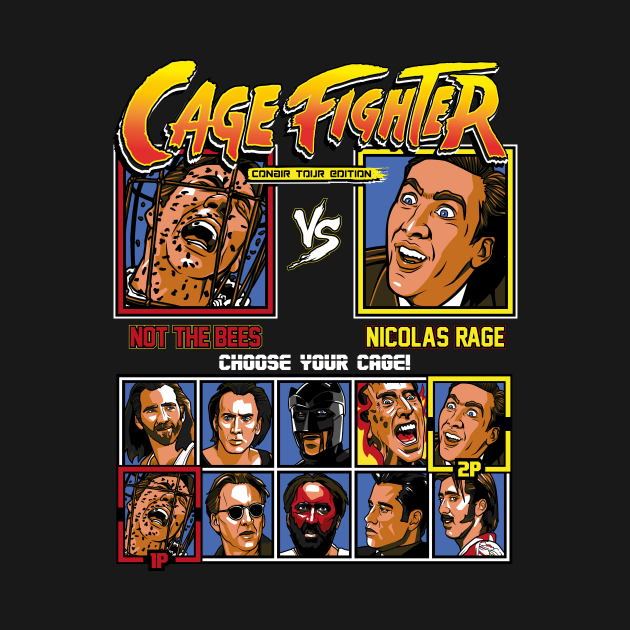 TeePublic: Nicolas Cage Fighter - Conair Tour Edition