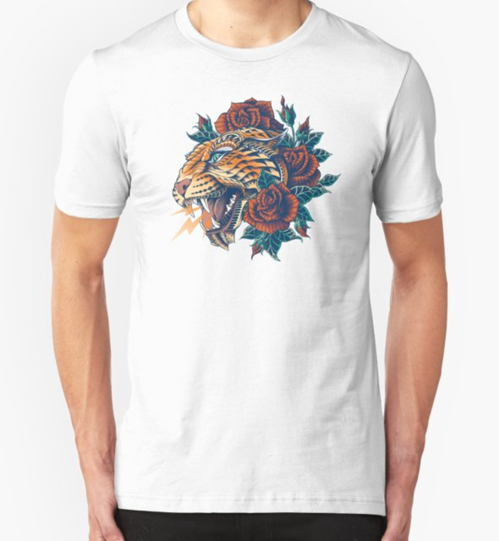 RedBubble: Ornate Leopard (Color Version)