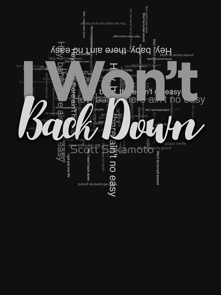 RedBubble: I Won't Back Down, Tom Petty, Word Cloud Design, Won't Back Down