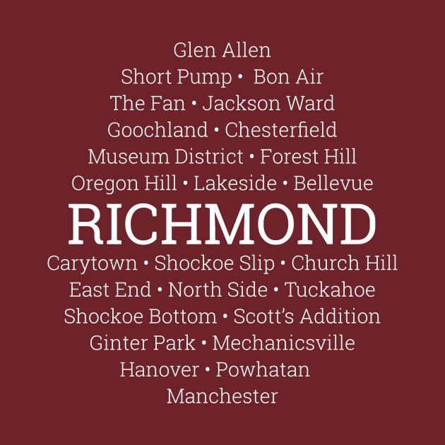 TeePublic: Neighborhoods of Richmond, Virginia