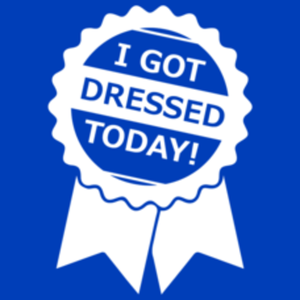 Textual Tees: I Got Dressed Today