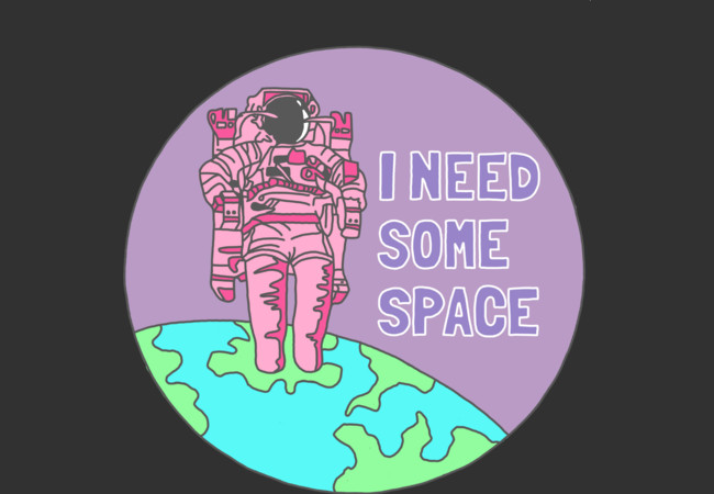 Design by Humans: I need some space introvert awkward weird galaxy funny print