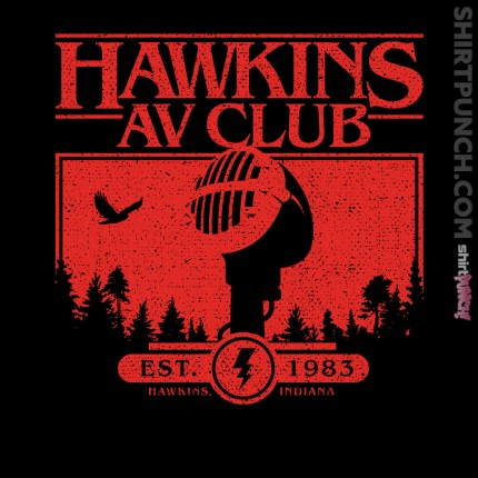ShirtPunch: Hawkins AV Club