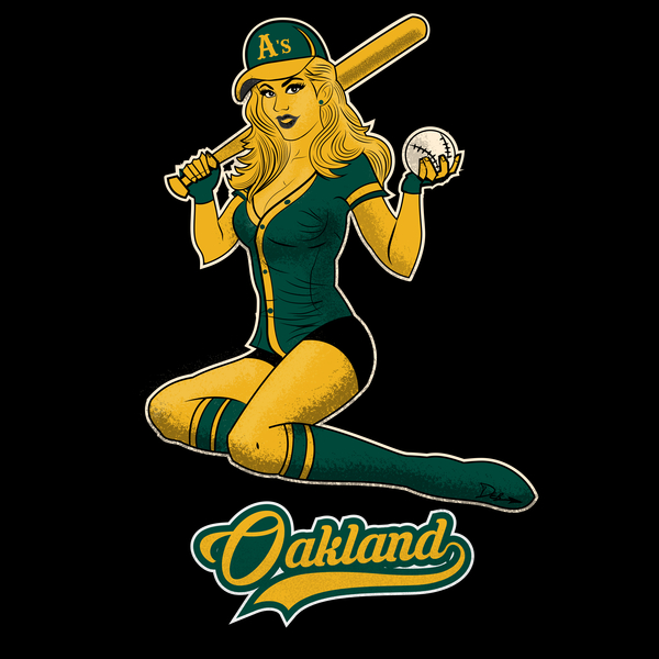 NeatoShop: Oakland Baseball Pin-Up Girl