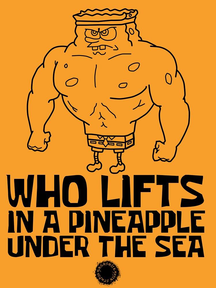 RedBubble: Spongebob - Who Lifts [Black] || Gym Gear