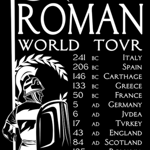 Qwertee: Roman World Tovr