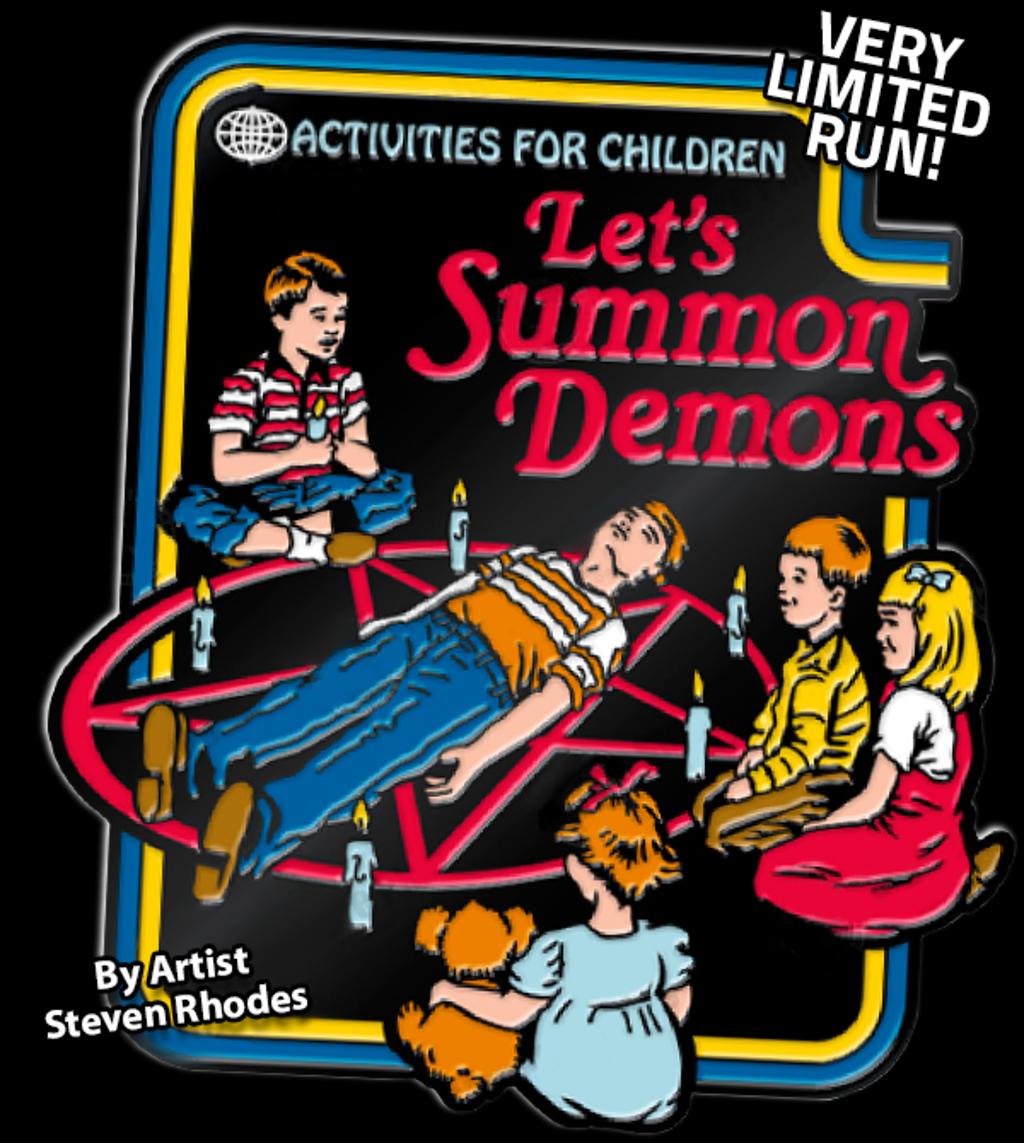 teeVillain: Summon Demons Pin