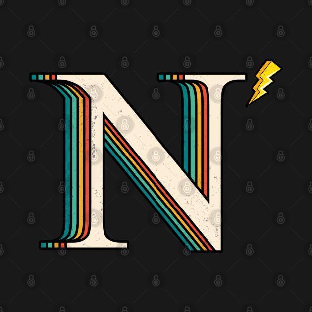 TeePublic: Retro Nu Letter