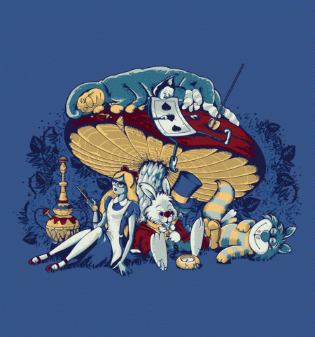 BustedTees: Stoned in Wonderland