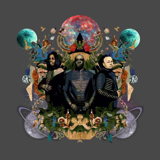 TeePublic: Earth wind and fire space in abstract