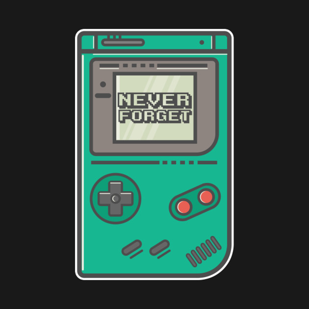 """TeePublic: """"Never Forget"""" Original Nintendo Game Boy"""