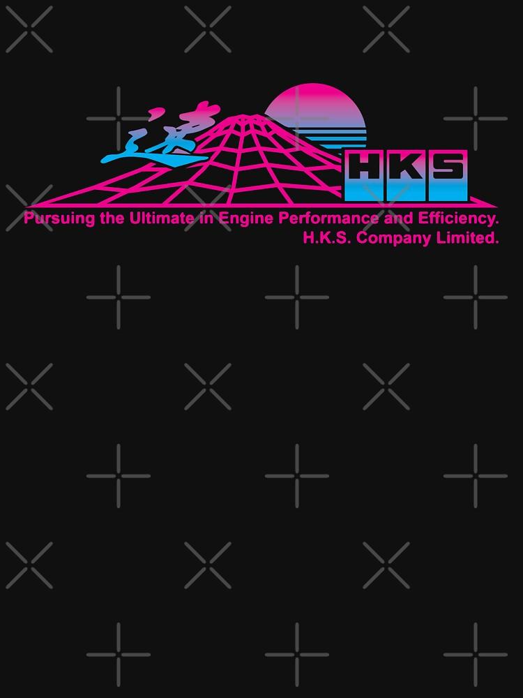 RedBubble: HKS - Vaporwave II - Mount Fuji Black