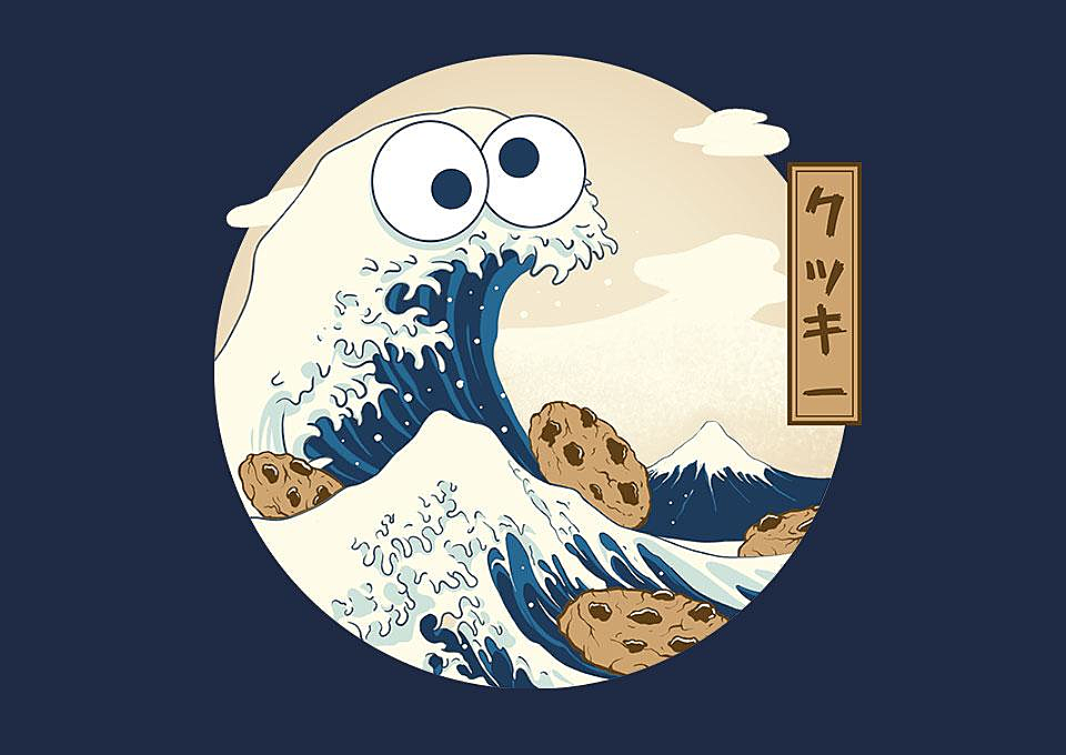 TeeFury: Cookiegawa Wave