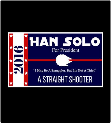 Shirt Battle: Han Solo For President