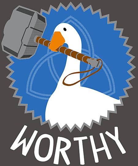 Qwertee: Worthy Goose
