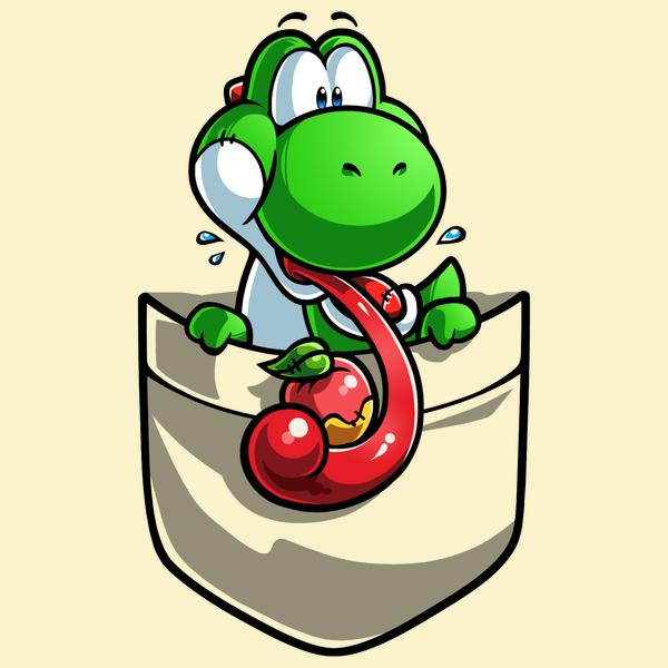 NeatoShop: Pocket Yoshi Fruit- Super Mario Tee tshirt