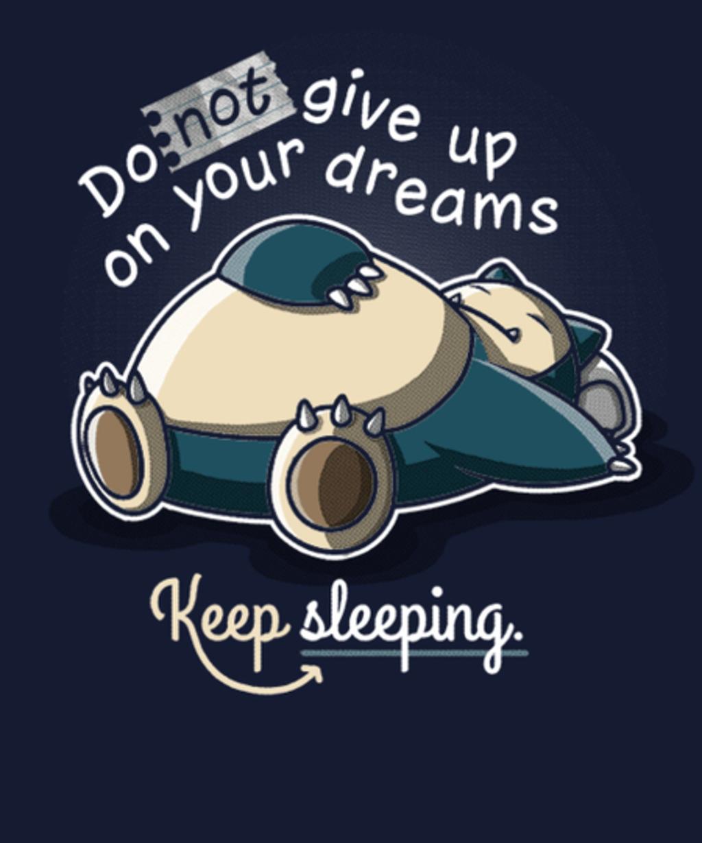 Qwertee: Keep sleeping