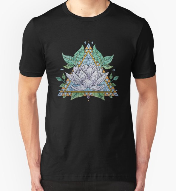 RedBubble: Stained Glass Lotus Illustration