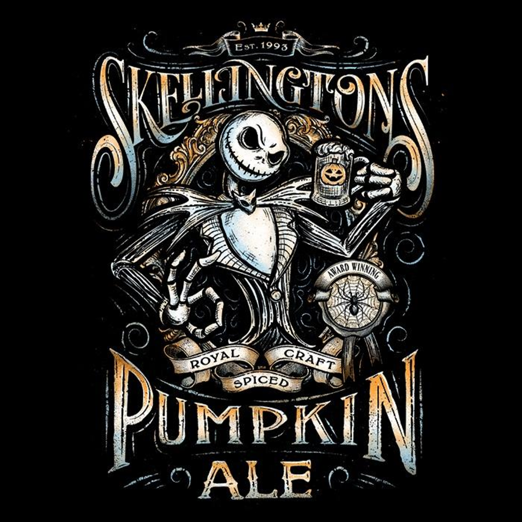 Once Upon a Tee: Skellington's Pumpkin Ale