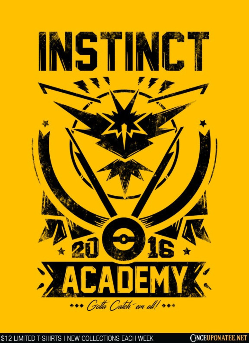 Once Upon a Tee: Instinct Academy  (Black)