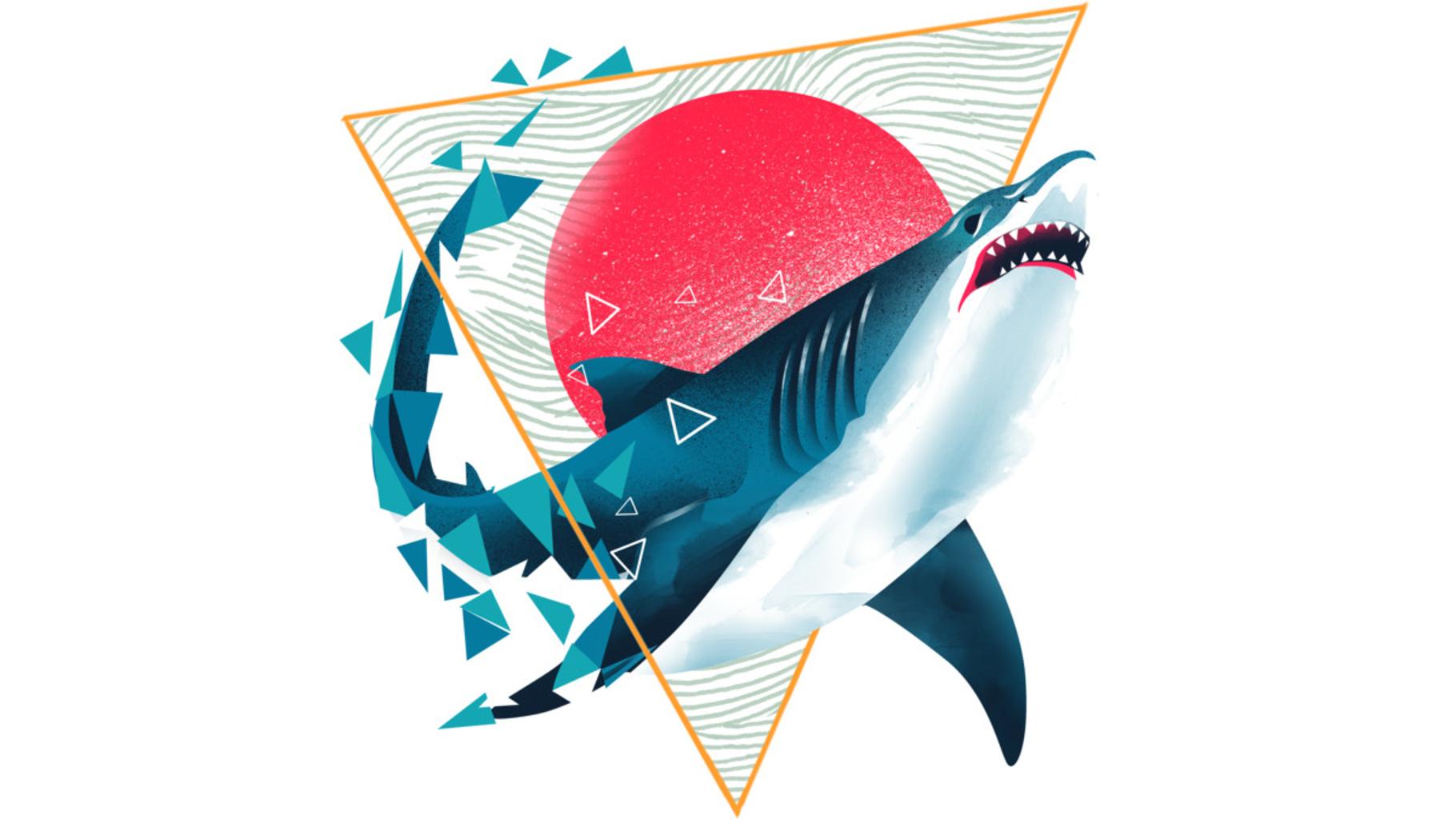 Design by Humans: Geometric Shark