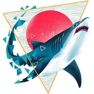 Design by Humans: Geometric Shark
