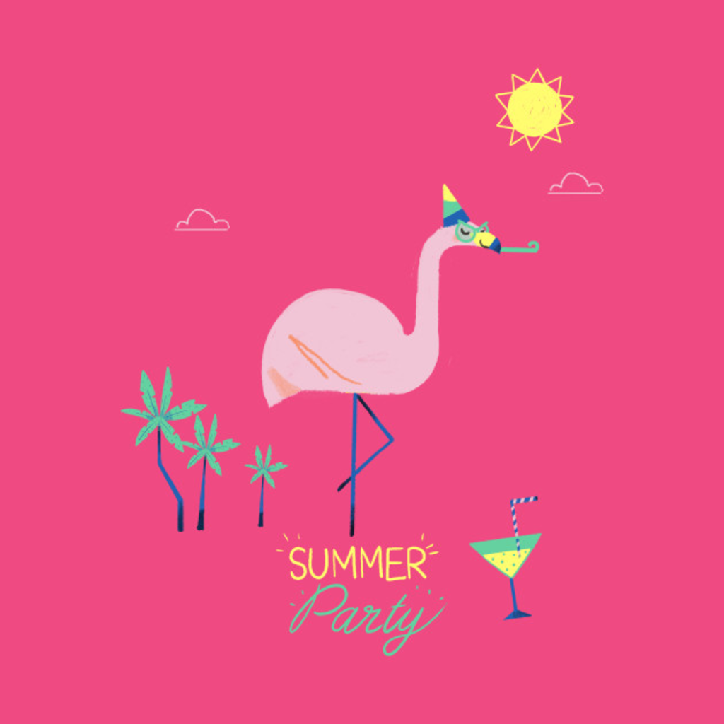 TeePublic: Cocktail Flamingo
