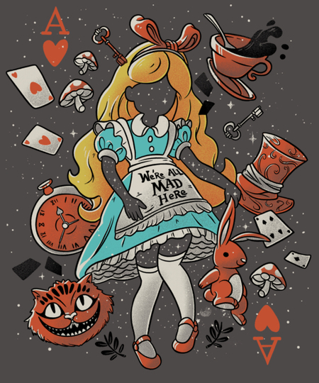 Qwertee: Wonderland Girl