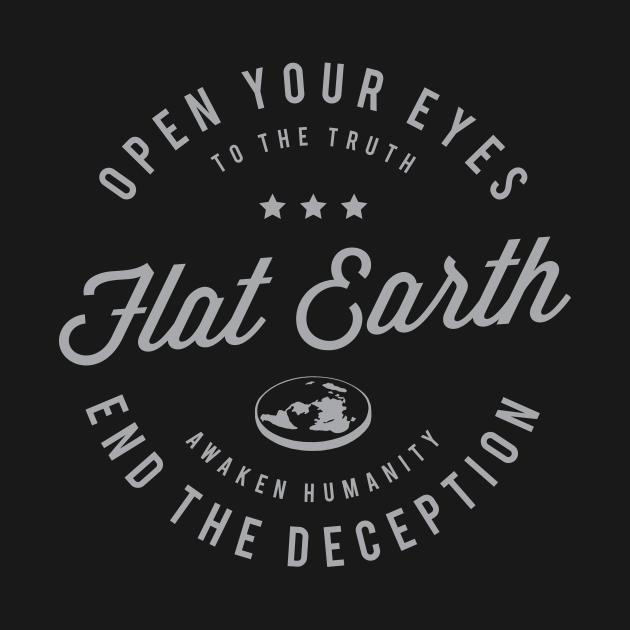 TeePublic: Flat Earth Awaken Humanity 3