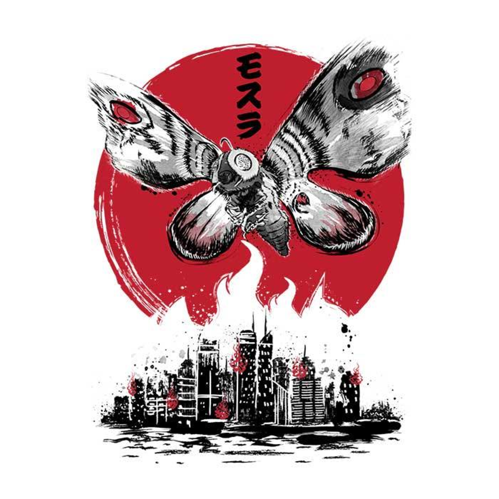 Once Upon a Tee: Giant Moth Rising Sumi-e
