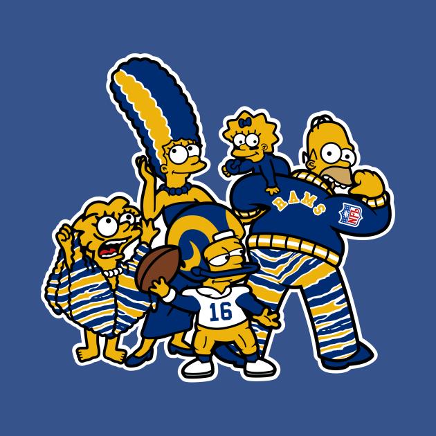 TeePublic: The Simpsons Los Angeles Rams
