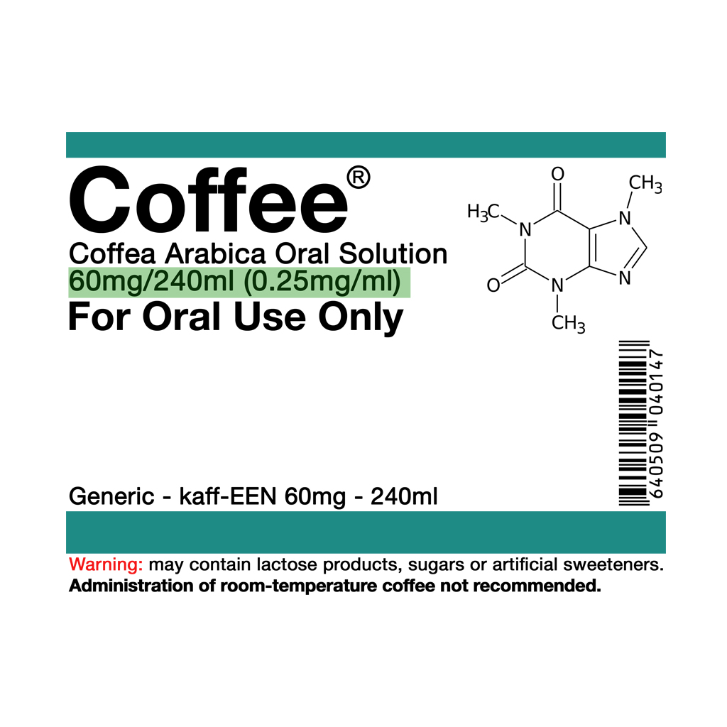 TeeTee: Coffee Oral Solution